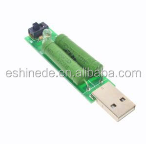 USB Port Mini Discharge Load Resistor Digital Current Voltage Meter Tester 2A/1A With Switch 1A Green Led / 2A Red Led