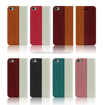 Flip Wallet Stand PU Case for Smartphone