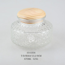 beautiful alabaster glass bottle /candy jar with wooden lid