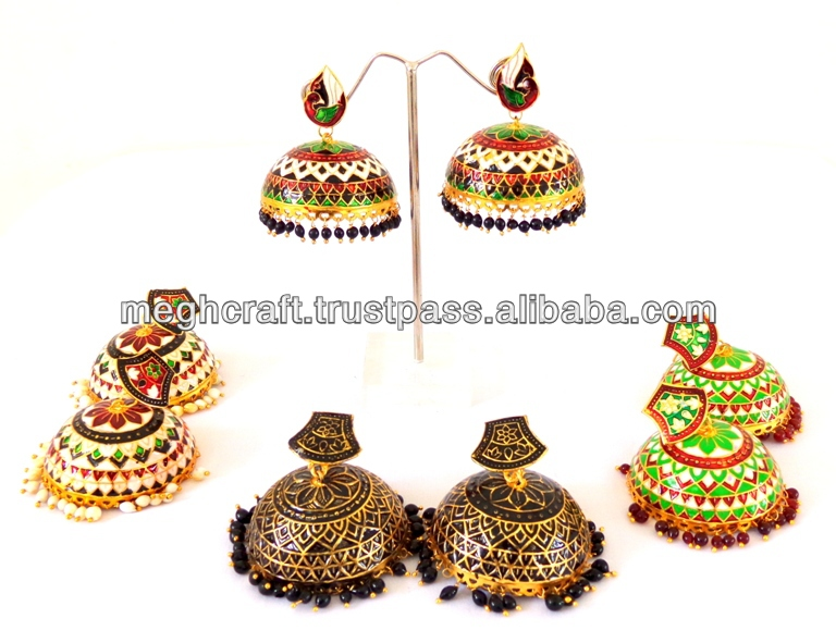 Handmade Meenakari Jumka Earring -Jhumka earrings -indian jewellery -Meenakari Jhumka