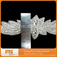 Gleaming Silver Plated Clear Glass Rhinestone Applique DIY Sewing Crafts