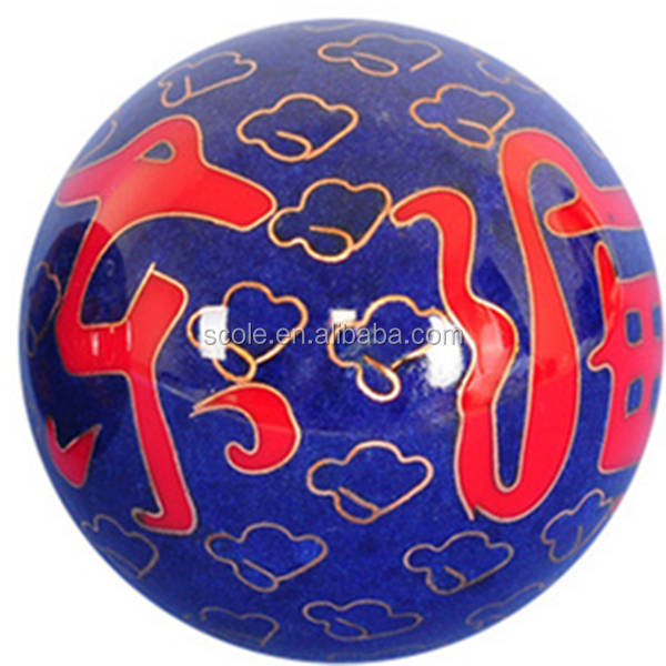 Chinese traditional health Chrome plated cloisonne Iron steel Baoding balls with music tune 35 45 48 50 53 55mm