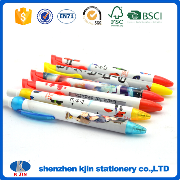 2017 Chromatic designed wholesale plastic ballpoint pen with level for school
