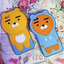 waterproof unbreakable 3d Cute cartoon lion silicone cell phone case for iphone 6 7