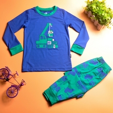 China hot selling <strong>children</strong> clothing <strong>set</strong> pretty cartoon little boy cotton long pyjamas