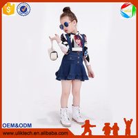 Foshan factory supply lowest price girl clothing boutique quality children's clothing set fashion designs kids clothes