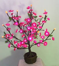 Led decorative flower tree artificial bonsai trees on sale flower plants sale