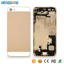 Replacement custom housing for iphone 5 gold housing assembly
