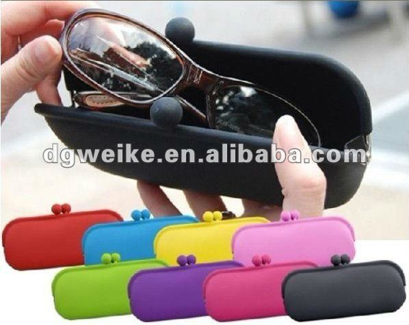 2012 Top Sale Eco-friendly Silicone Glasses Case/Cosmetic Case