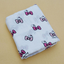 Bamboo Muslin baby Swaddle Blankets baby Cotton Muslin Wrap printed milk bottle design custom printed blankets