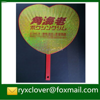 plastic handle fan, advertising fan with customized logo