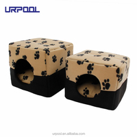 Pet Supplies Dog Bed Pet Kennel Paw Pattern Soft Dog House Bed Puppy Cat Warming Winter Nest Bed pet tent