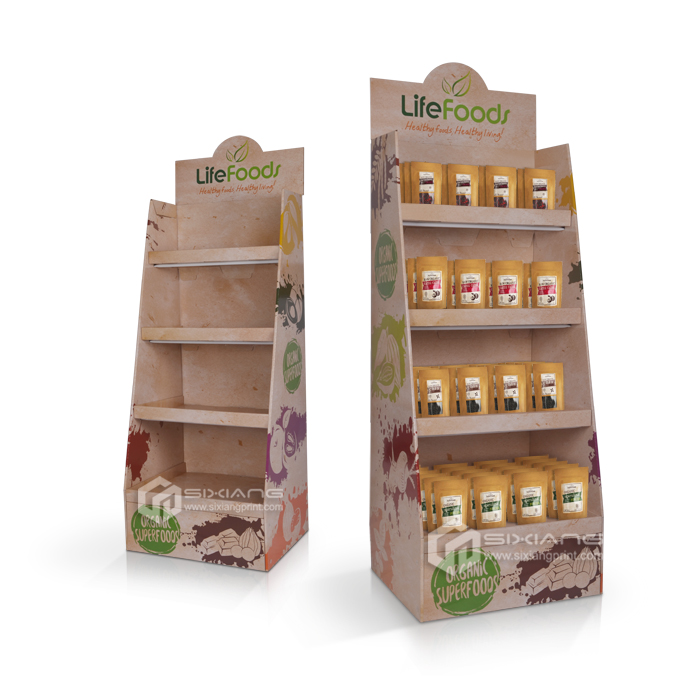 Custom Made Food display Cardboard Display Stand