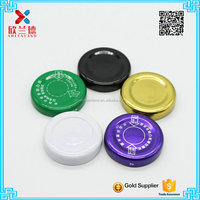 38mm different color screw tin lid for honey jar,water jar