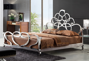 Luxury modern design metal bedroom furniture stainless - Stainless steel bedroom furniture ...