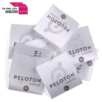 Polyester satin smooth care printed silk garment labels