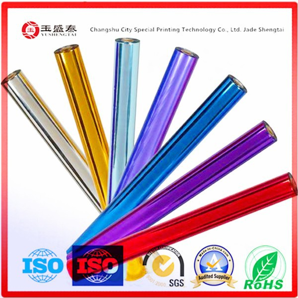 self adhesive transparent film hot stamping foil for paper plastic