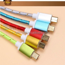 2014 High quality Braided 8pin lightning usb cable for iphone 5/iPhone 6 Manufacture