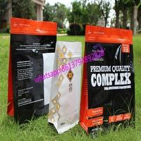 custom printed 500g 700g 1kg 3kg 5kg protein powder mylar foil ziplock block bottom bag