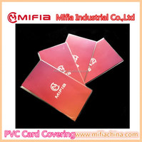 wholesale custom size cheap waterproof Eco -friendly PVC business card clear book covers