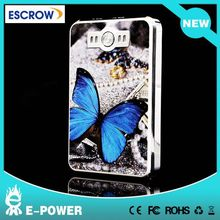Blue Butterfly! high quality large capacity emergency battery charger for travel