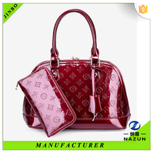 Promational cheap PU leather new trend hand bag for women ,travel bag