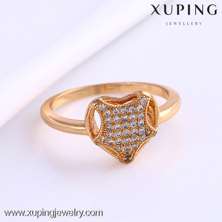 12013-Xuping Novelty Sweet Women Ring Promotion Gifts With Gold