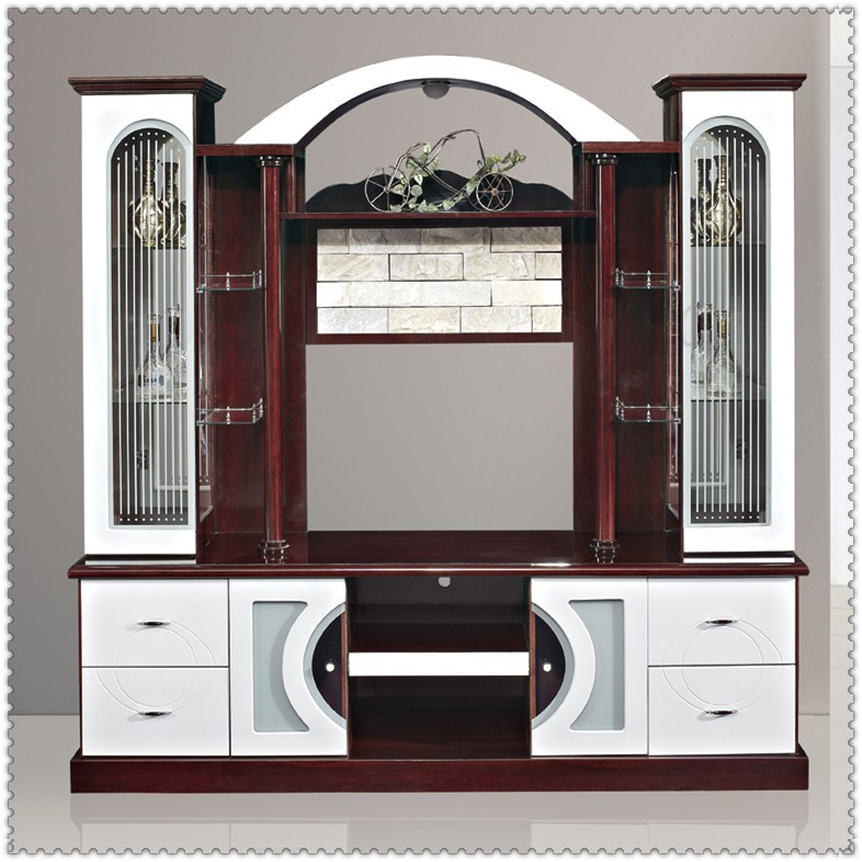 Mdf Red And White Living Room Cabinet Wall Units 815ab# Tv Cabinet Designs  India   Buy Tv Cabinet Designs India,Modern Design Tv Cabinet Led,Wall Unit  Tv ...