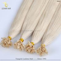 Good Feedback Wholesale Hot Selling Top Quality Human remy hair nail glued tip hair extension