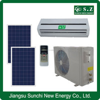 Home use ACDC 90% hybrid wall split type 9000btu 12000btu solar air conditioner heat pump systems