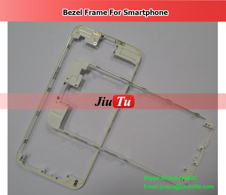 A+ Front Bezel With Hot Glue Middle Frame For Phone 6 Black White Mid Frame Chassis Bezel Touch Screen LCD