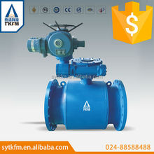 TKFM Industrial anti corrosion and wear resistance water supply,water treatment and water pipeline ball valve