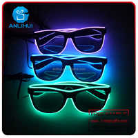 Party Celebration LED Flashing Sunglasses,Luminous LED Flashing Sunglasses,LED Shutter Sunglasses for Party