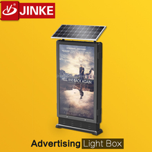 New Invention Products Customized Solar Panel Sign Board / Single Scrolling Advertising Led Lightbox / Outdoor LED Display