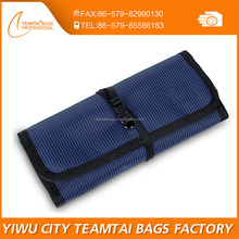 Hot roll up folding nylon organizer travel bag for accessory