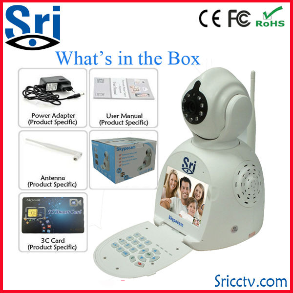 Sricam SP003 Free Video Call With 3C Card Remote Record Wifi P2P Wireless IP Camera With Battery