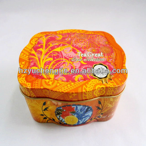 Gift Tin Packaging/Special Shape Tin Box For Candy