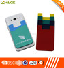 new mobile phone silicone smart card wallet 3m sticky