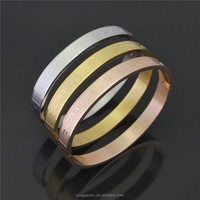 Alibaba Stainless Steel Latest Design Vogue Jewellery Bangle for Women Jewelry