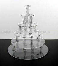 Clear Perspex Dessert Display Stand Acrylic Wedding Cake Stand 6 Tier Acrylic Cupcake Stand