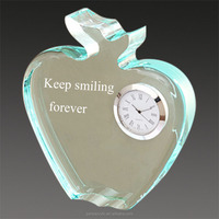 decorative apple shaped wall clock for sale