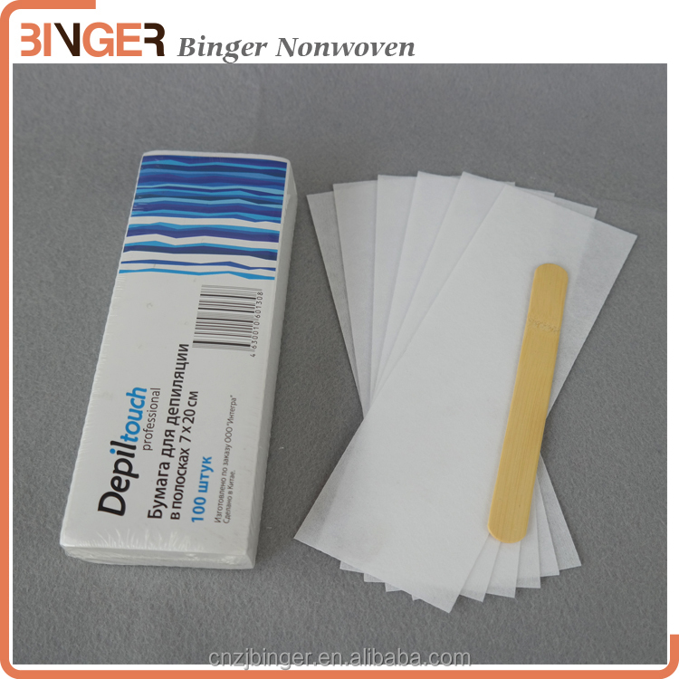 beauty depilatory wax strips for body Waxing strips for women for body hair removal wax strips with factory price