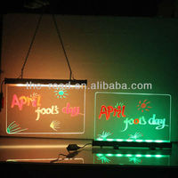 Trending Hot Products 25X40/30X50/40X60/50X50cm Desktop Stands Led Neon Marker Drawing Board Gas Station Billboard With Dimmer