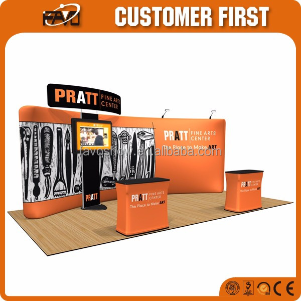10'x20'/3x6/20x20 Trade Show Motorcycle Exhibition Display Booth System For Car Exhibition