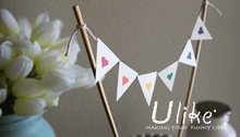 welcomed party jointed banner paper letter banner triangle cake flag banner party stage decoration