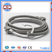 www.alibaba.com wholesale alibaba gray leather wrap silver hook bracelet men fashion watches