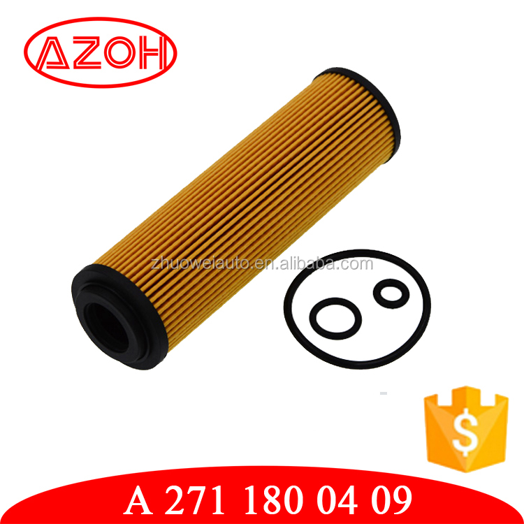 New type paper oil filters car oil filter OEM# A 271 180 04 09,A2711800409 for motor Mer-cedes Ben-z