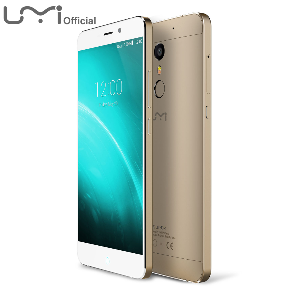Umi Super Mobile Phone 4GB RAM 32GB ROM Android 6.0 4G FDD 5.5 Inch FHD 5MP+13MP Touch ID Metal Body Better Than Elephone p9000