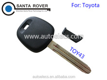 Transponder Key Case TOY43 Blade For Toyota Key Blank With Plastic Plug