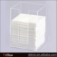 Customized clear acrylic tissue display stand